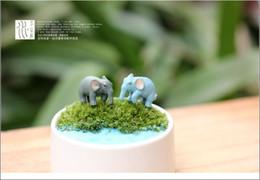 20 pcs / lot 1.5 * 2.5 cm belle en plastique émulation éléphant miniature modèle enfants jouets mignons anime enfants action figure micro-paysage jouets ? partir de fabricateur