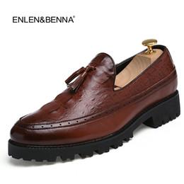 Мужская обувь онлайн-Tassel Men Oxford Shoes Mens Patent Leather Italy Casual Shoes 2017  Dress Party Wedding Flats Platform Shoe Loafer