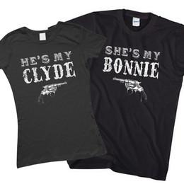 Bonnie and Clyde Couples assortis T-Shirt Saint Valentin cadeau pour petit ami L174 Cool Casual fierté t shirt hommes Unisexe Nouveau Mode ? partir de fabricateur