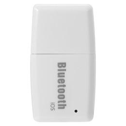 Wholesale Taşınabilir USB Bluetooth4 Müzik Alıcısı Kablosuz Stereo Ses Adaptörü Araç Kiti IOS Android Akıllı Telefon Tablet PC Için Siyah Beyaz