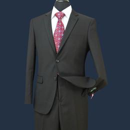 blende les pantalons pour les hommes Promotion STOCK IN USA Hommes Costumes de mariage Fit Deux boutons Deux pièces avec un pantalon en laine Mélange Tuxedos Fashion Groom Business Costumes de carrière ST002