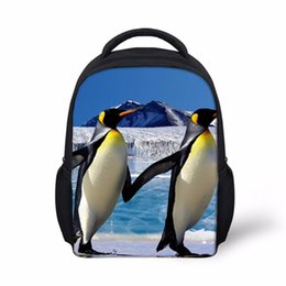 Wholesale Backpacks For Toddler Girls - Noisydesigns penguin shark Schoolbag Backpack Toddler Girls Boys Small fresh blue Shoulder Book Bag for Kindergarten Hot New