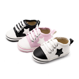 Wholesale Model Shoes Boys - 2018 new Summer Star models Kids babys Cartoon Chaussures pour enfants Synthetic leather baby shoes Suitable for 0-1years old Boys Girls