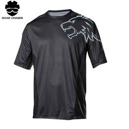Wholesale road racing clothing - 2018 New Motocross Short Sleeve Off Road T-shirt MTB Motorcycle Racing Clothes Bicycle Cycling Jerseys