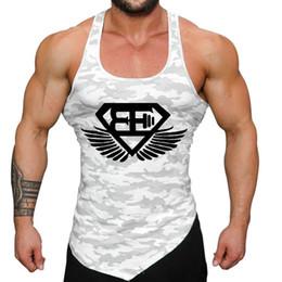Wholesale Casual Male Camouflage Vest - Men fitness bodybuilding Tank tops gyms workout Sleeveless shirt male Camouflage vest Casual golds Singlet sportswear Undershirt