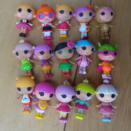 Wholesale Bulk Plastic Toys - 10pcs lot Mini Lalaloopsy baby Doll Bulk Button Eyes Action Figure Children Toy Juguetes Brinquedos Kids Toys Best Toy For Girl