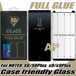 Wholesale body 3d - Full Glue Case Friendly Tempered Glass Screen Protector For Samsung Galaxy S9 S8 Note 8 Plus With Retail Package