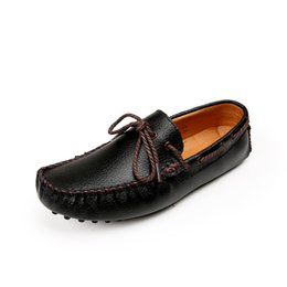 Wholesale Top Driving Shoes Men - Top Quality Men Flats Shoes Genuine Leather Men Shoes Handmade Loafers Moccasins Leather Driving Shoes Zapatos Hombre CD5588