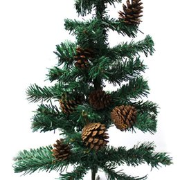 Canada Vente chaude 4.5 cm 9 pcs / ensemble De Noël Décor À La Maison Pin Cones XMas Arbre Suspendu Ornement De Noël Décoration Fournitures cheap xmas tree sales Offre