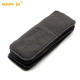 Wholesale Pocket Cloth Diapers Inserts - Sunny Ju 10 PCS Bamboo Charcoal Inserts For Baby Cloth Diaper Reusable Washable Inserts Liners For Real Pocket Cloth Nappy