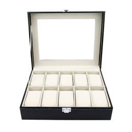 caja de fundas de almohada Rebajas SZanbana Watch Box - Organizador de vitrinas - Juego de lujo de 10 ranuras con almohadas de terciopelo de cuero Pu de primera calidad