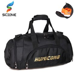14f29697dd6 2018 Hot Large Capacity Sports Gym Bag Men Women Independent Shoes Storage  Training Handbag Waterproof Outdoor Shoulder Bag
