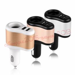2019 leichtere adapter Kfz-Ladegerät Dual USB 3.1A Kfz-Ladegerät + Zigarettenanzünder Kfz-Netzteil Feuerzeug Steckdose Ladegerät Adapter für iPhone Samsung GPS günstig leichtere adapter