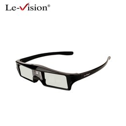 Wholesale Visions Tv - Le-Vision 3D Active Glasses for DLP-LINK Bluetooth 3D Active Shutter Stereoscopic Glasses For TV Projector Epson Samsung SONY
