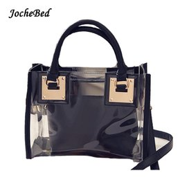 Wholesale Tote Handbags For Cheap - 2017 New Transparent Mother Tote Women Handbags Tide Cheap PVC Crossbody Bags For Women Luxury Brand Designer Shopping Bags
