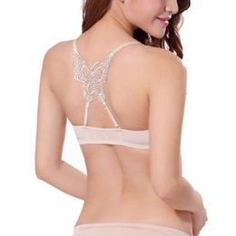 5288ddd18c Sexy Women Bra Front Buckle One Piece Wire Free Push Up Bra Butterfly Beauty  Back 3 4 Cup Bras For Women Student Girl Q2