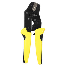 Wholesale wire strippers crimper - Freeshipping Wire Crimper Engineering Ratchet Terminal Crimping Pliers 0.25-2.5mm2 Insulated Terminals Or Color Code Nests