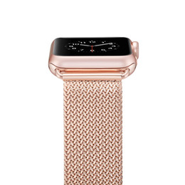 Argentina Correa de reloj milanesa de reemplazo de banda de reloj + caja para Apple Watch Series3 / 2/1 Suministro