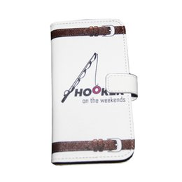 "Wholesale I Phone Leather Wallet - 5.5"" Phone Case Wallet PU Leather Cover Protective Shell Flip Holster Carrying Case for iPhone Samsung Galaxy I am a Hooker on the weekends"