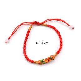 Wholesale Chinese Luck - whole saleLychee 1 piece Chinese Style Feng Shui Lucky Red String Bracelet Adjustable Good Luck Best Wishes Wristband