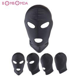 Cablagem de boca aberta on-line-Fetish Escravo BDSM Bondage Restrições Sex Mask Boca Olho Aberto Cabeça Harness Blindfold Slave Jogos Adulto Produtos Para Casais Y18102405