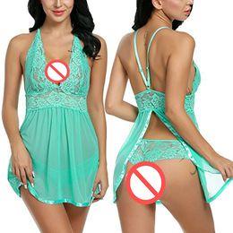 Nachthemd xxl online-freies Verschiffen reizvolle Nachtwäsche Frauen arbeiten erotische Wäsche-Kimono Langerie Babydoll reizvolle Unterwäsche-Pyjamas für Frauen-Nachtwäsche-Nachthemden um