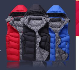 Wholesale Duck Chains - Factory direct sales 90% white duck down Coat Men NF down Vest collar men's cultivate one's morality Down sleeveless jacket
