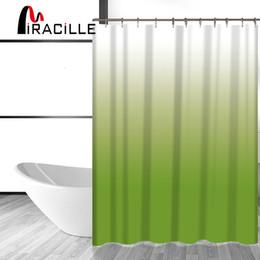 Moderne modevorhänge online-Miracille Mode Farbwechsel Gedruckt Durable Badezimmer Duschvorhänge Wasserdicht Polyester Bad Vorhang Waschraum Dekor