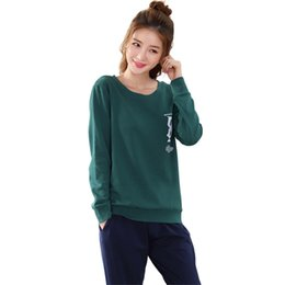 Дамские зимние пижамы онлайн-Women's Pajama Set Winter Cotton Long Sleeve Nightwear Ladies Solid Sleepwear Leisure Outside Pajamas Suit Home Clothing M-XXL
