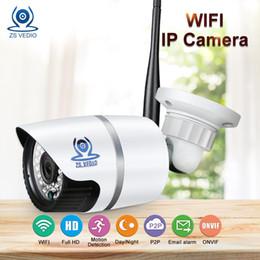 Wholesale wireless ir webcam - ZSVEDIO Surveillance Cameras Wireless IP Camera CCTV Camera WIFI IP Cameras Outdoor Waterproof HD IR Night Vision Device Webcam