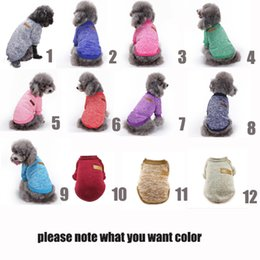 Wholesale Dog Jumpers - Dog and cat's clothes Ten optional classic fashion sweater dog's sweater Dog's Vest knit jumper gift to a beloved pet