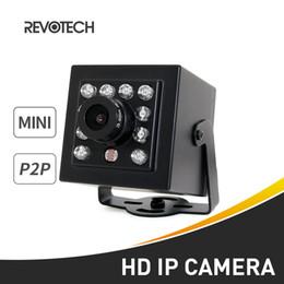 Canada Caméra IP HD 720P / 1080P Mini 10 LED IR Caméra de vidéosurveillance intérieure 1.0MP / 2.0MP Caméra de sécurité ONVIF vision nocturne P2P Noir Offre