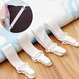 Wholesale Sheet Grippers Fasteners Clips - 4Pcs Set Bed Sheet Mattress Blankets Elastic Grippers Fasteners Clip Holder