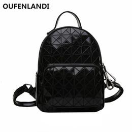 9aa46ebe704 OUFENLANDI 2018 New Luminous Backpacks Women Fashion Girl Daily Backpack  Geometry Package Sequins Female Folding Backpack