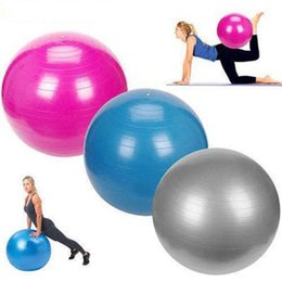 2019 pilates palestra di casa 65 cm Yoga Fitness Ball GYM Home Pilates Addensare Yoga Balls Nessun odore di equilibrio Sport antiscivolo per allenamento Fitness Più recente sconti pilates palestra di casa
