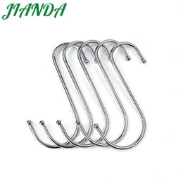 Wholesale Hanger Clasp - JIANDA Iron Practical Hooks S Shape Kitchen Railing S Hanger Hook Clasp Holder Hooks For Hanging Clothes Handbag Hook