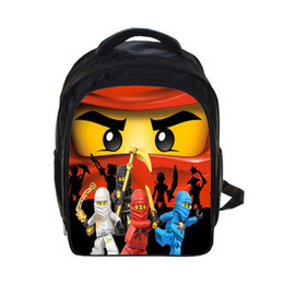 Lego borse online-New Lego BackpacGifts for Boys Girls Bambini Cartoon Movie Lego Ninjago Paern School Bag con custodia Pencile Para Ninos