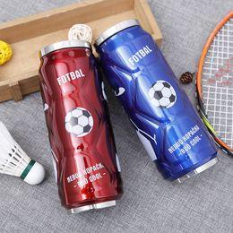 Personalize canecas on-line-Caneca De Aço inoxidável Coke Bottle Mugs Copos Xícara De Café Caneca de Chá Viajar Copos De Futebol com Palha Personalizada