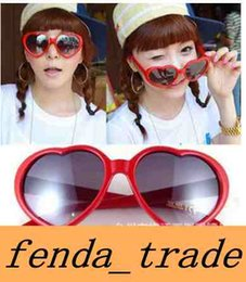 Wholesale Rectangle Shapes - 2018 New Heart glasses cheap sunglasses heart-shaped sunglasses influx of people love retro oversized mirror Hot style women D653