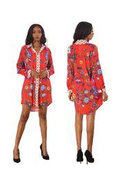 Wholesale ladies night shirt new - Fashion New Plus Size Mini Short Dress Woman Long Sleeve Summer Printed Sexy Ladies Shirt Dress Night Party Vestidos