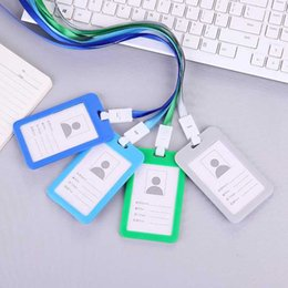 Пластиковый кредитный держатель кошелька онлайн-Случайные бизнес кредитная карта ID держатели сумки женщины мужчины дорожные пластиковая банка держатель кредитной карты автобус брелок чехол для ключей цепочка для бумажника