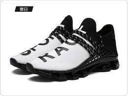 2019 sapatilhas masculinas NOVA grande código primavera lâmina correndo primavera sapatos han versão da superfície da rede respirável Sapatos Casuais de Caminhada, grandes metros das mulheres dos homens 48G0.6 sapatilhas masculinas barato