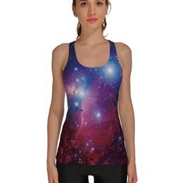 wholesale galaxy shirts Promo Codes - 2016 New Arrival Purple Galaxy Printing Sport Summer T-shirts 6 Paerns Flaming Fire Black Soccor Shirts S To 4XL