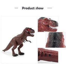 figura caminhada Desconto Menino menina presente Andando Controle Remoto Dinossauro de Natal Toy Luz Som Action Figure Infravermelho Tiranossauro criança