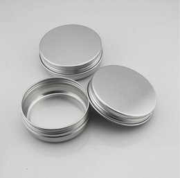 Wholesale Empty Box Nails - Nail Art Cream Pot Empty Round Aluminium Container Nail Art Jar Cosmetic Cream Jar Lip Balm Containers 30ml 30g