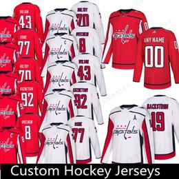 capital jerseys 2019 - Washington Capitals Custom 2018 New 92 Evgeny  Kuznetsov 19 Nicklas Backstrom Jersey ef1e94de2
