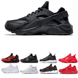 мужские кроссовки размер 11 Скидка Nike Air Huarache Off Huarache ultra run Кроссовки кроссовки Белые Черные Красные Кроссовки спортивная новая мужская дышащая прогулочная обувь chaussure size us 5.5-11