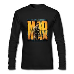 Max artes on-line-Nova MAD MAX Mel Gibson Filme Art Custom Manga Comprida Preto T-Shirt Tamanho XS-2XL