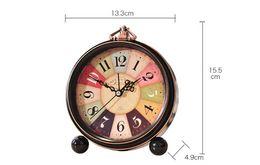 Wholesale Lazy Alarm Clock - Decorative Retro Home Creative Clock Lazy Metal Small Alarm Clock Bedroom Living Room Minimalist Alarm Wall Decorations