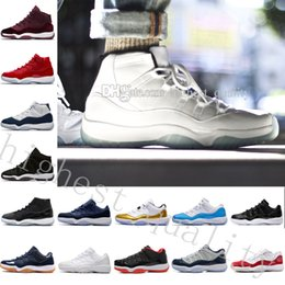 Wholesale Womens Navy Blue Boots - Gym Red GS Midnight Navy Win Like 82 11 Breds Basketball Shoes New 11 Space Jam Mens Sports Shoes Womens Trainers Boots 11 XI Mens Sneakers